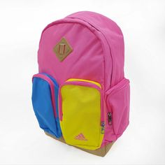 Adidas BTS BP33 Pink Blue Yellow Classic Pig Nose Backpack Outdoot Sport  Bag http   3494cfd8712bc