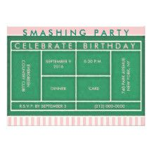 9 best tennis invitation card images on pinterest tennis party tennis party invitations filmwisefo