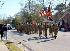Soldiers from the 10th Engineer Battalion marched in the Martin Luther King Jr. Day parade in Claxton, Georgia on January 18, 2016. The soldiers are stationed at Fort Stewart, which is the home of the 3rd Infantry Division and largest Army installation east of the Mississippi River.