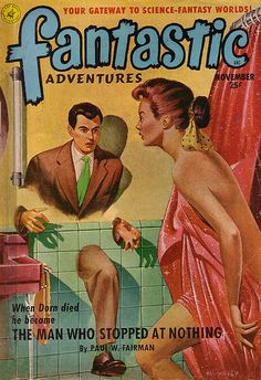 a new take on the peeping tom: Fantastic Adventures / Vol. 13 Nr. 11 by micky the pixel, via Flickr