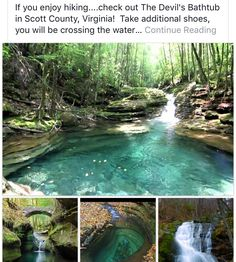 Devil's Bathtub, Scott County, Virginia ~but of course he bathed in VA~ Vacation Places, Dream Vacations, Vacation Spots, Places To Travel, Travel Destinations, Oh The Places You'll Go, Cool Places To Visit, Angst Quotes, Quotes Quotes