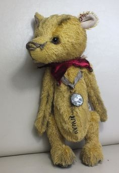 """Mr Jangles"" the Jester Bear by Ragtail n Tickle."