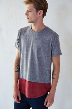 ALTERNATIVE Eco Jersey Drop-Tail Curved Hem Tee Shirt - Urban Outfitters
