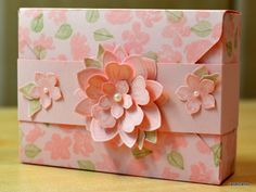 JanB Handmade Cards Atelier: Painted Petals Thank You card box