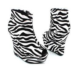 $47 Zebra water-proof boot