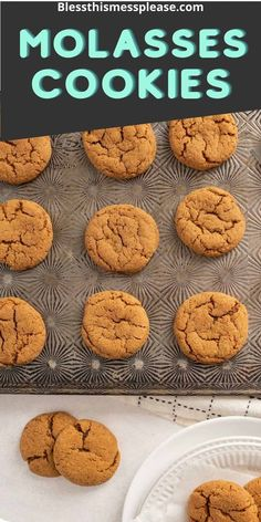 Old fashioned molasses cookies that are perfectly spices and stay soft and chewy when baked. You'll love this recipe! #baking #molasses #spiced #ginger #cookies Cookie Recipes, Dessert Recipes, Desserts, Old Fashioned Molasses Cookies, Free Meal Plans, Ginger Cookies, Kid Friendly Meals, Holiday Baking, Clean Eating Recipes