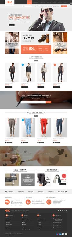 Nik is an premium #Magento #responsive #theme comes with an eye-pleasing #design interface, especially crafted for a #men #fashion #store, #clothes ...