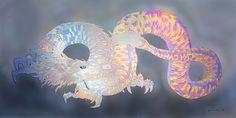 虹色の龍・平安 - 現代美術絵画・草場一壽 陶彩画の世界