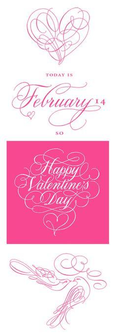 Happy Valentine's Day! from the talented Deborah Nadel Design