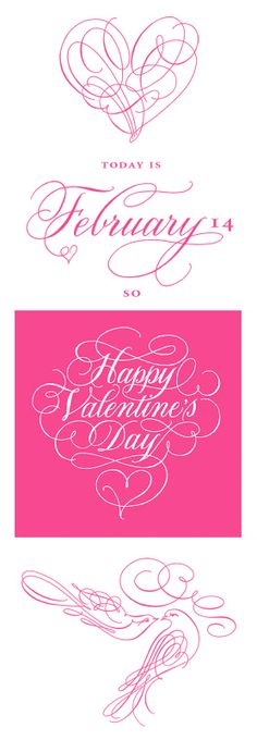 Happy Valentine's Day! from the talented Deborah Nadel Design