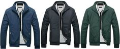 New Arrival Spring Men's Solid Fashion Jacket Male Casual Slim Fit Mandarin Collar Jacket 3 Colors M-5XL
