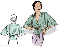 #3005 1930s Butterfly Blouse from Decades of Style