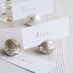 What A Great Idea For Christmas Dinner Walnut Place Card Holders
