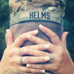 My favorite engagement photo! We stole this idea from a pin, and it came out so cute! Military love <3