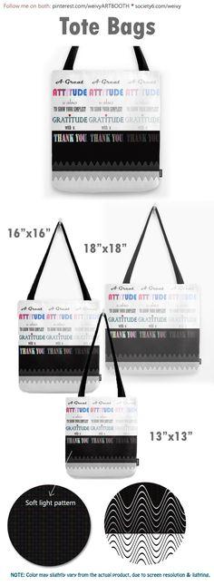 Gratitude ~ Xmas Spirit Quote Tote Bag by weivy Bag Quotes, Spirit Quotes, Fashion Quotes, Mode Inspiration, Poplin Fabric, School Bags, Hand Sewn, Ivy, Original Artwork