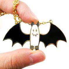 Adorable Bat Shaped Animal Cartoon Pendant Necklace | Limited Edition $15.50
