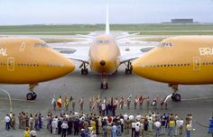 On June 1st 1979 three Braniff International B747s are parked at DFW getting ready to depart to CDG, AMS and LGW.