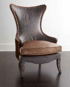 Old Hickory Tannery Martha Leather Wing Chair - ShopStyle Furniture Luxury Furniture, Home Furniture, European Furniture, Furniture Chairs, Furniture Vintage, Furniture Ideas, Diamond Furniture, Desk Chairs, Outdoor Furniture