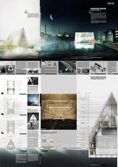 The double-skin solution - Theatre Architecture Competition 2015 Honourable Mentions Operation Theatre - Quang Le and Lien Hoang Phuong, Switzerland & Vietnam 點擊瀏覽下一頁 Theatre Architecture, Architecture Design, Architecture Presentation Board, Famous Architecture, Architecture Panel, Presentation Layout, Architecture Graphics, Architecture Drawings, Presentation Boards