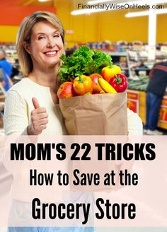 According to the Bureau of Labor Statistics, food is the third-largest household expense. Mom's 22 tricks will help you save money, prevent impulse buys, and find the best prices. http://www.financiallywiseonheels.com/how-to-save-at-the-grocery-store/  #mom #savings #groceries #money