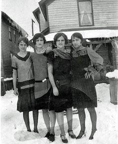 Duryea, Pennsylvania- Anna & Frances Slucinsky with friend, 1920.