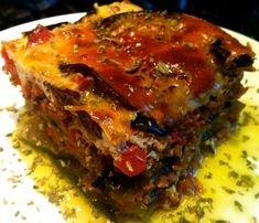 Greek Food Revamped: Stella's Low Carb Paleo Moussaka Recipe - triple up on the recipe and freeze for extras! (can use Lamb/Bison/Beef/Turkey