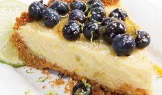 What's better than Key Lime Pie? Key Lime Pie with Florida Blueberries on top! Find this #FreshFromFlorida recipe and more at freshfromflorida.com.
