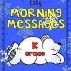 Ten morning messages with a January theme that are aligned with Common Core are included in this packet. These work great for emergency sub plans o...