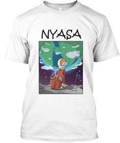 Nyasa! White T-Shirt Front