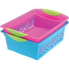 Medium Rectangle Classroom Baskets - Love the fun neon colors!