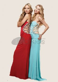 Evening Dresses 2014-Fascinating Mermaid One-Shoulder Chiffon Charmeuse Evening Dresses 2012