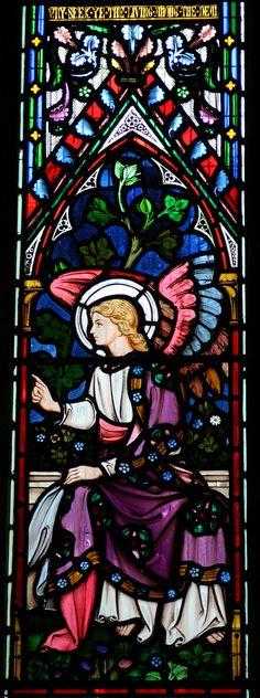 Gabriel - stained glass St Nicholas Church, Thames Ditton