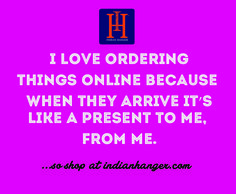 Hassle free at I love ordering things online because when they arrive its like a present to me from me! Keep Shopping, Hanger, Presents, My Love, Words, Free, Gifts, Hangers, Hangers For Clothes