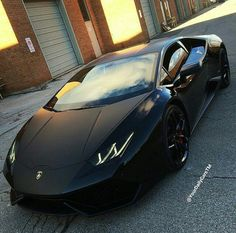 Satin black Aventador