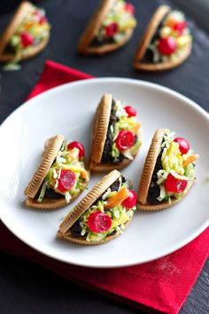 These fun party hors d'oeuvre aren't actually tacos . . . they're made from Oreos! Get the recipe tutorial here.