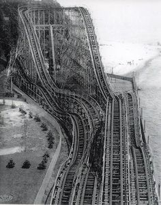 Abandoned roller coaster. This looks so cool...