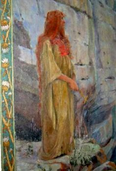 Magdalene painting at St. Baume