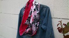 KajDom / Obojstranná šatka-ružová Alexander Mcqueen Scarf, Kimono Top, Handmade, Tops, Women, Fashion, Moda, Hand Made, Fashion Styles