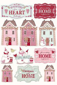 Tilda Cut-out: Xmas Village - Tone Finnanger - - - Casa Cenina Christmas Tag, Vintage Christmas, Christmas Crafts, Christmas Decorations, Paper Art, Paper Crafts, Diy Crafts, Little Presents, Theme Noel