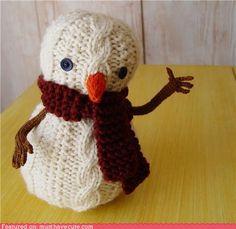 knit snowman