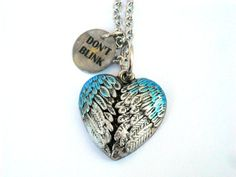 Doctor Who Necklace Weeping Angel Wings by TimeMachineJewelry