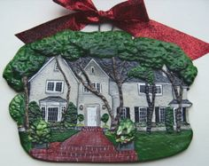 This is really cool!!! You can order a Christmas ornament of your home. Love this idea for a first time home buyers gift! Perfect for realtors after a closing!