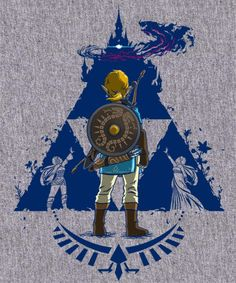 The Legend of Zelda: Breath of the Wild - Link and Hyrule's Triforce...