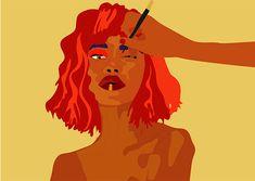 Getting ready #makeuptutorial #makeupillustration #makeupart #motiongraphics #motionart #digitalillustration #digitalart Makeup Illustration, Digital Illustration, Motion Graphics, Makeup Art, Disney Characters, Fictional Characters, Aurora Sleeping Beauty, Digital Art, Gifs