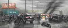 Tom Clancy's Threat Vector - Death of General Su by BurenErdene on DeviantArt Zombie Apocalypse Outfit, Apocalypse Art, Arte Zombie, Zombie Art, Post Apocalyptic City, Military Special Forces, Sci Fi Environment, Burning City, Military Pictures