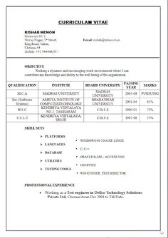 Divya bhagatdivyabhagat197 pinterest curriculum vitae example for job free download sample template excellent resume cv format with career objective for mca professional with years work yelopaper Images