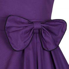 Grace Purple Cotton Swing Dress | Vintage Inspired Fashion - Lindy Bop