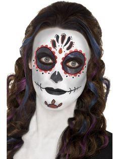Day of the Dead Schminkset - . - Dieses Schminkset macht aus dir eine Day of the Dead-Braut. Perfekt, wenn du an Halloween oder einer Kostümparty hübsch aussehen willst!