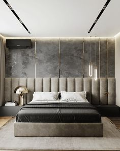 Modern Luxury Bedroom, Master Bedroom Interior, Luxury Bedroom Design, Modern Master Bedroom, Bedroom Furniture Design, Home Room Design, Master Bedroom Design, Minimalist Bedroom, Contemporary Bedroom