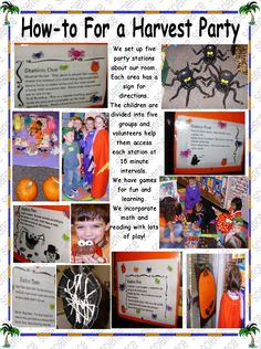 Let's have a Harvest party Party Stations, Games For Fun, Harvest Party, Creepy Halloween, Birthday, Kindergarten, Roast, Kids, Ice Cream